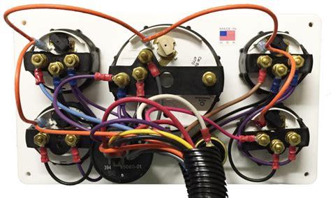 Black Volvo Engine Instrument Panel White Gauges