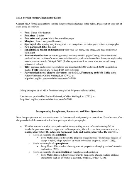 mla format com narrative essay mla