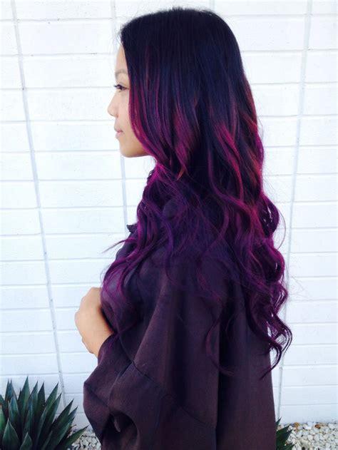 asian purple ombre hair hair color asian