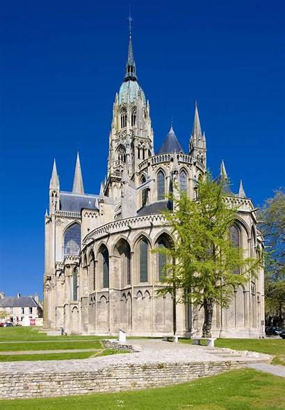 Apse Cathedral Gothic Architecture France Bayeux Church