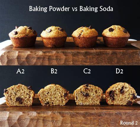 baking powder vs baking soda baking powder vs baking soda in muffins curious nut