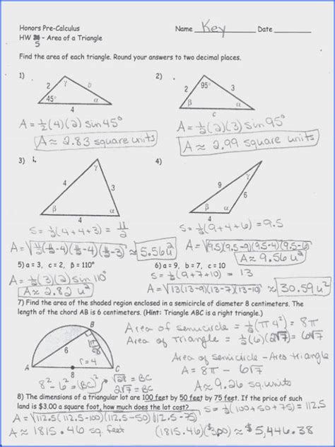 of sines and cosines worksheet mychaume