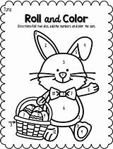 Easter Roll Math Sheets Printables Coloring Kindergarten Activities Pages April Colouring Spring Colors Teachers Lessons Pay Visit Teacher Holiday Teacherspayteachers sketch template