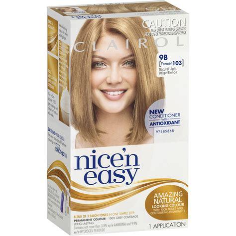 clairol nice  easy  natural light beige blonde