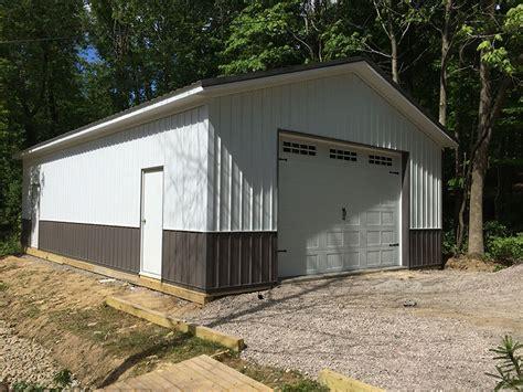 24 X 40 Garage by Post Frame Garages Hostetler Construction Cochranton Pa
