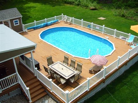 above ground swimming pools with decks cool above ground swimming pools ideas grezu home interior decoration
