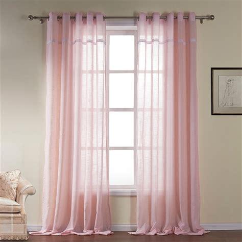 modern sheer curtain light pink cotton custom curtain 531