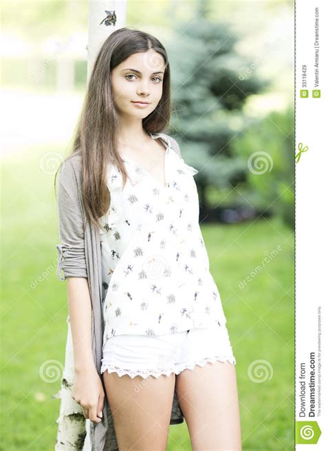 Beautiful Teen Girl Outdoor Stock Image Image Of Cute Casual 33118429