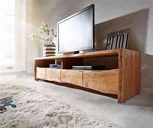 Tv Board Holz Massiv : fernsehtisch live edge akazie natur 230 cm 4 schubk sten baumkante lowboard ~ Bigdaddyawards.com Haus und Dekorationen