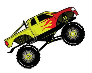 monster trucks races cartoon truck race