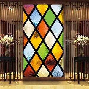 cwpeu024 semi transparent personalized wall stickers With stained glass wall decal ideas for home decoration