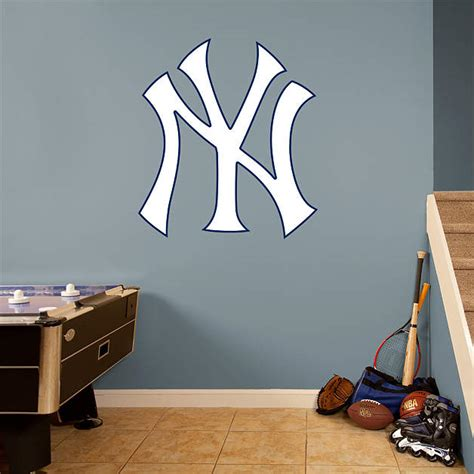 yankee bedroom decorating ideas new york yankees logo wall decal shop fathead 174 for new