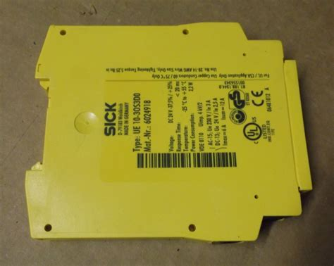 sick ue 10 30s3d0 safety relay module lot of 3 daves