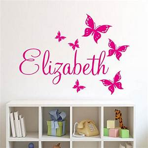 Personalize wall sticker butterflies vinyl art decals