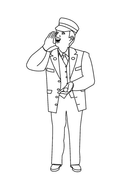 Train Conductor Hat Coloring Page 0 Comments