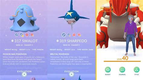 POKEMON GO GENERATION 3 SHINY SHARPEDO SHINY SWALOT SHINY ...
