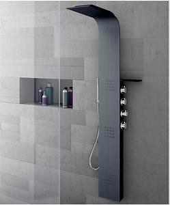 Colonne De Douche Carré : colonne de douche italienne avec buse verticale lama ~ Edinachiropracticcenter.com Idées de Décoration