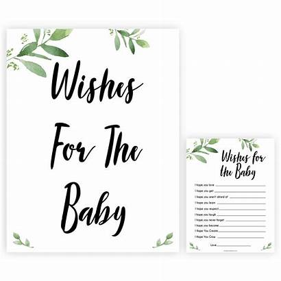 Wishes Sign Shower Printable Games