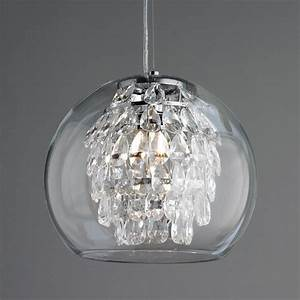 Glass globe and crystal pendant light glasses shades