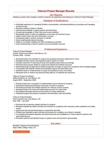 Telecom Project Manager Resume Sle by Telecom Project Manager Resume Great Sle Resume