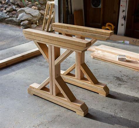 Kitchen Chronicles Building A Fancy X Farmhouse Table