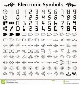 Electronic Symbols Stock Vector  Illustration Of Diagram