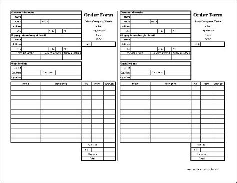 18366 duplicate order form free easy copy small detailed order form with duplicate
