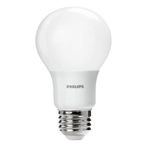 home depot lava l bulb philips 60w equivalent daylight a19 led light bulb 455955