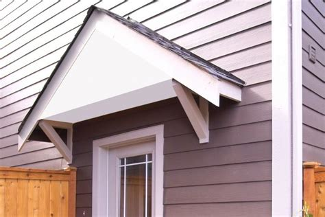 How To Build A Wood Awning Over A Door