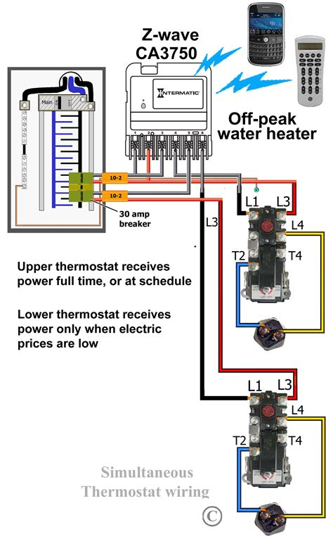 wiring diagram for water thermostat wiring diagram water heater timer fresh how to wire