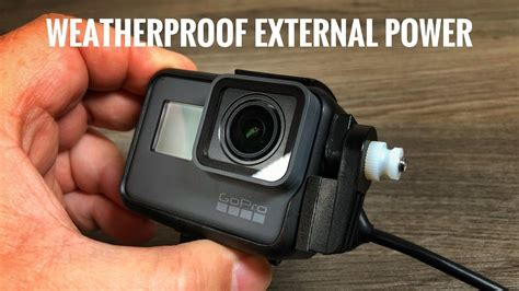 weatherproof external power gopro hero xpwr