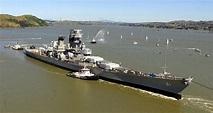 WWII-era battleship USS Iowa being refitted to move to new ...
