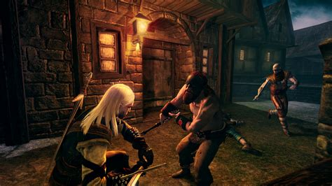 geralt gets propositioned in new rise of the white wolf screens vg247