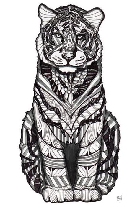 tiger zentangle tiger tattoo tiger art animal drawings