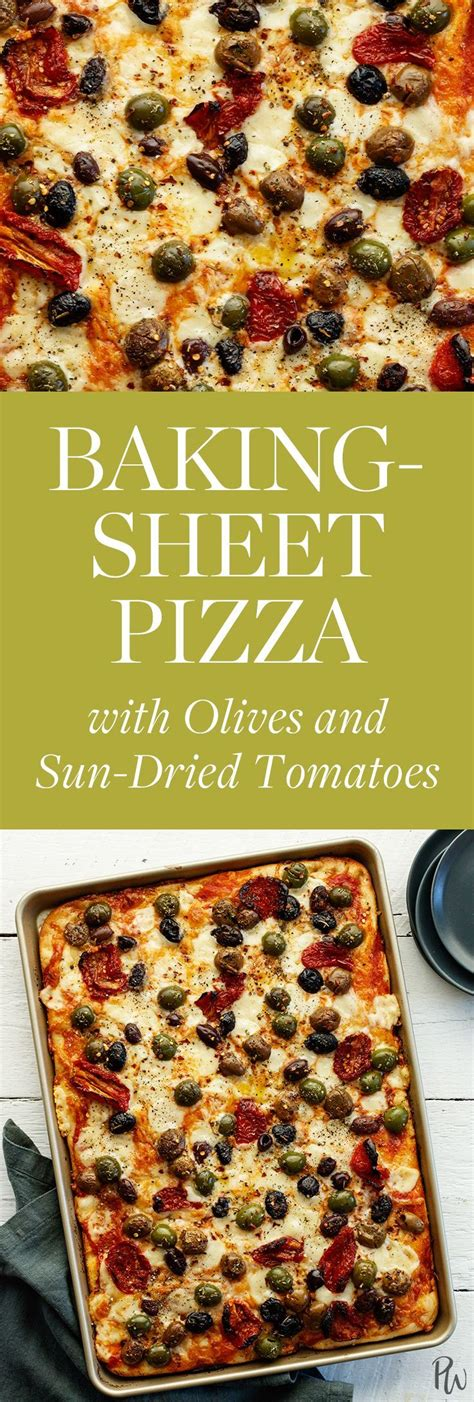 dried sun pizza sheet tomatoes olives baking recipes
