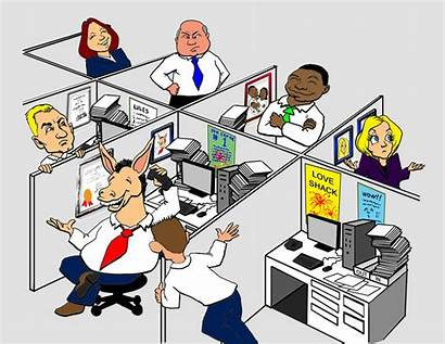 Office Clipart Cubicles Workers Cubicle Coworkers Workplace