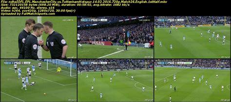 FULL MATCH EPL Manchester City vs Tottenham Hotspur 2016