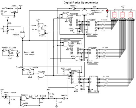 Electric Meter Wiring Diagram For Cluster by Digital Radar Speedometer Circuit Diagrams