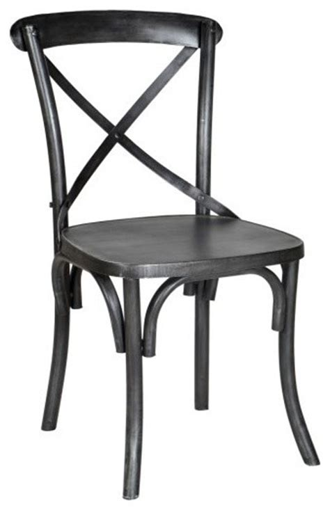 metal industrial x back chair industrial dining chairs