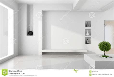 Minimalist White Room Stock Photo   Image: 35250330