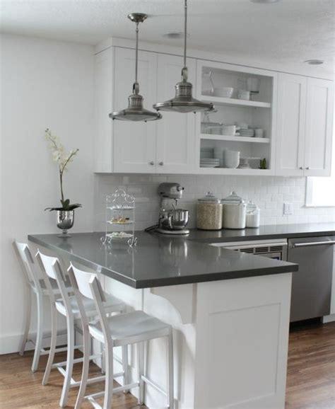 cuisine blanche carrelage gris peinture element cuisine meilleures images d 39 inspiration