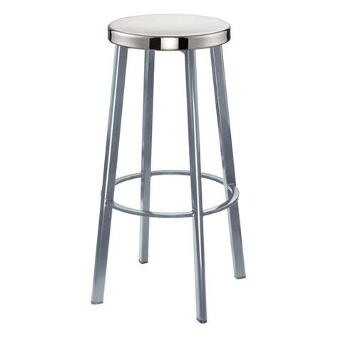 buy light grey contemporary metal bar stool with circular
