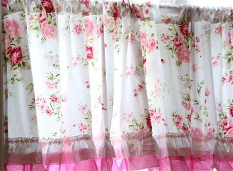 shabby country chic rose ruffled wildflower pink white