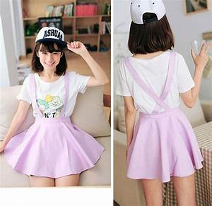 Cute fashion women skirts kawaii pastel suspender skirt S M L u00b7 Fashion Kawaii [Japan u0026 Korea ...