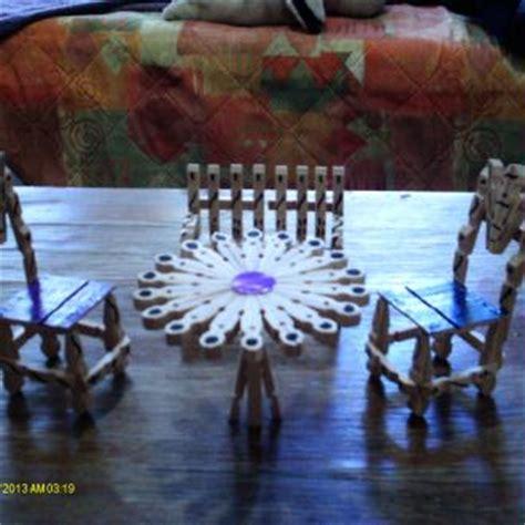 chaise en epingle a linge en bois créations création en pinces à linge galerie de modèles