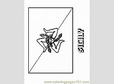 Sicily Coloring Page Free Flags Coloring Pages