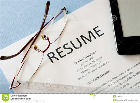 Free Background Images For Resumes by Resume Royalty Free Stock Photography Image 31827077