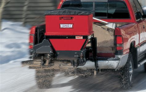 western pro flo  spreader dejana truck utility equipment