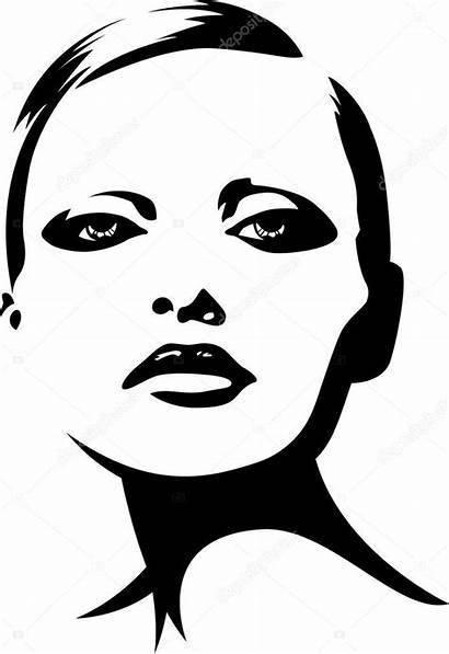 Face Illustration Woman Vector Lady Young Clipart