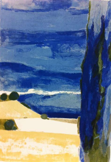 bernard cathelin paysage de la drome  stdibs
